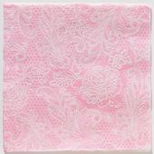 Reliéfne servítky s motívom čipky - Royal P. Pink,