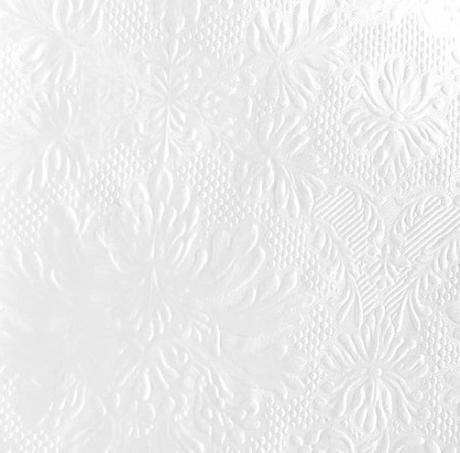 Reliéfne servítky biela perleť, 20ks - Obrázok č. 1