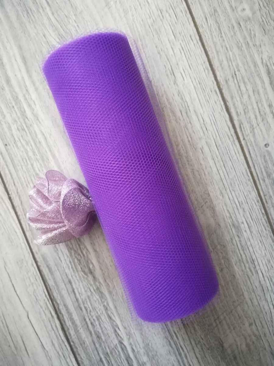 Tyl fialový l. 15cmx9m - predaj - Obrázok č. 1