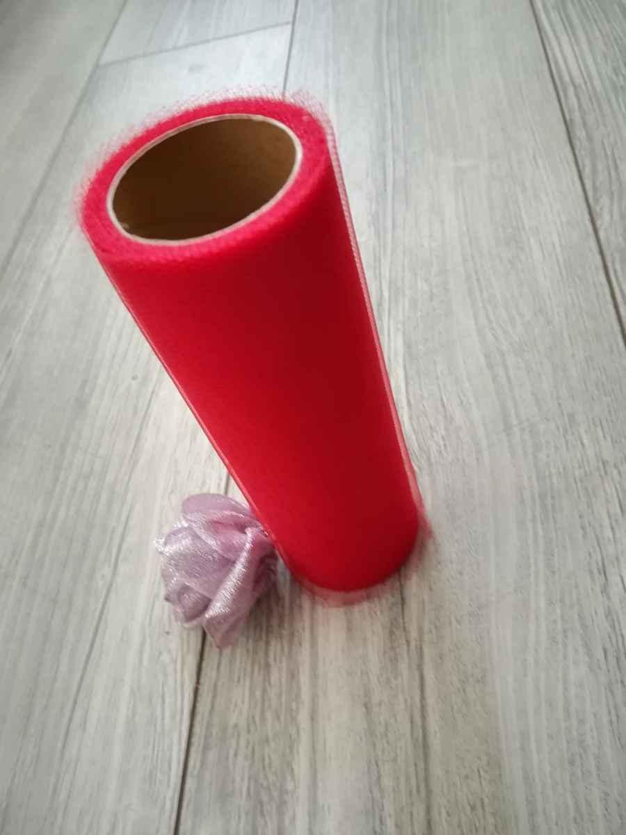Tyl červený 15cmx9m - predaj - Obrázok č. 2