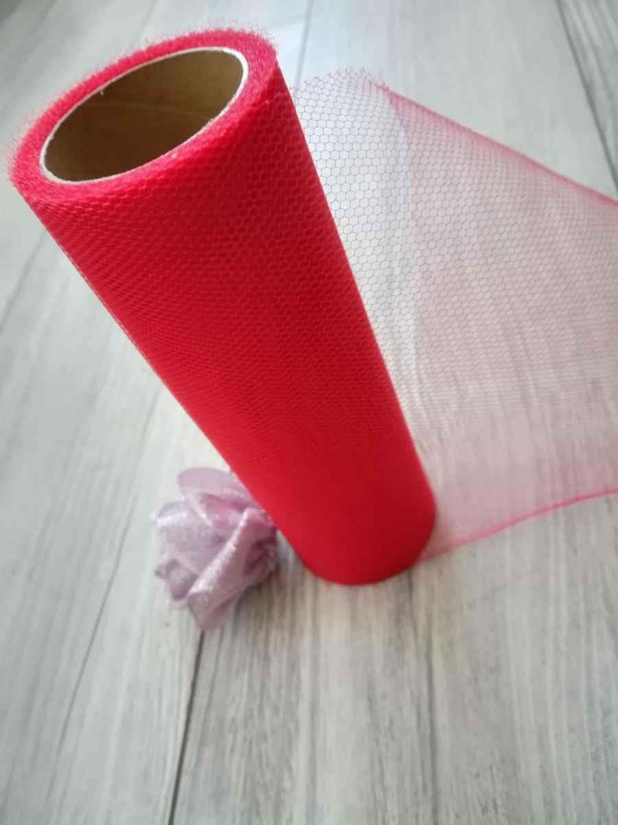 Tyl červený 15cmx9m - predaj - Obrázok č. 3