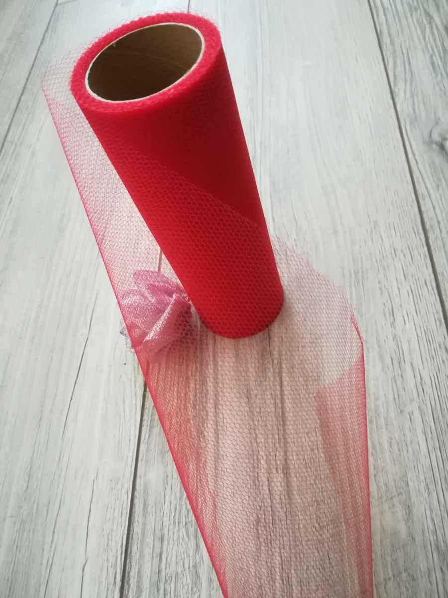 Tyl červený 15cmx9m - predaj - Obrázok č. 4