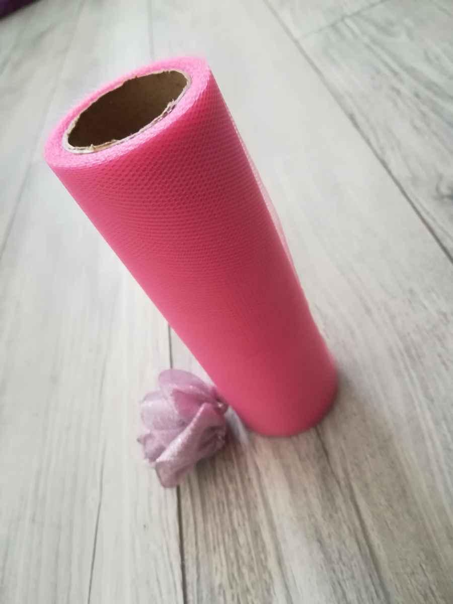 Tyl ružový l. 15cmx9m - predaj - Obrázok č. 2