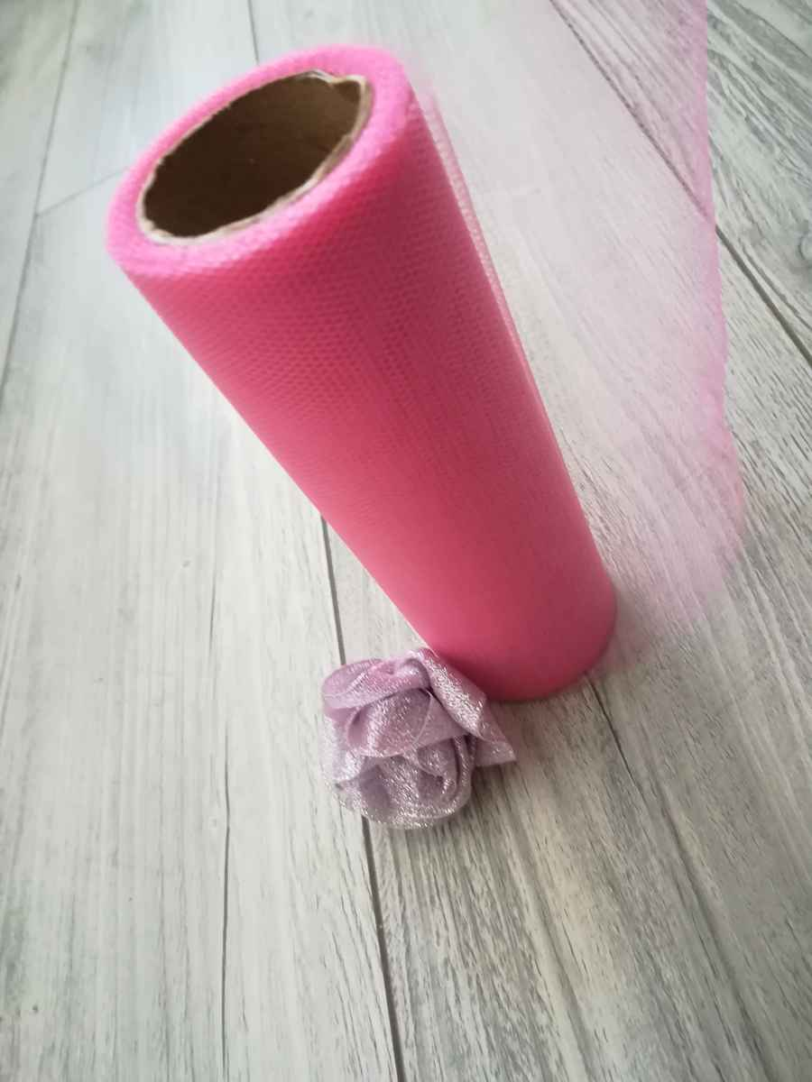 Tyl ružový l. 15cmx9m - predaj - Obrázok č. 3