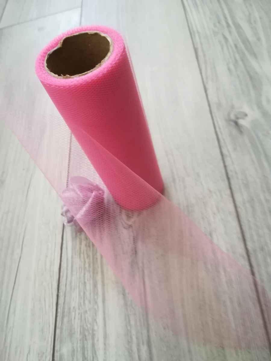 Tyl ružový l. 15cmx9m - predaj - Obrázok č. 4