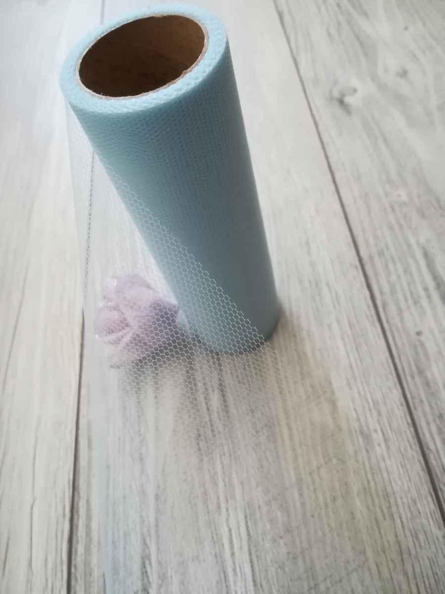 Tyl pastelovomodrý 15cmx9m - predaj - Obrázok č. 4
