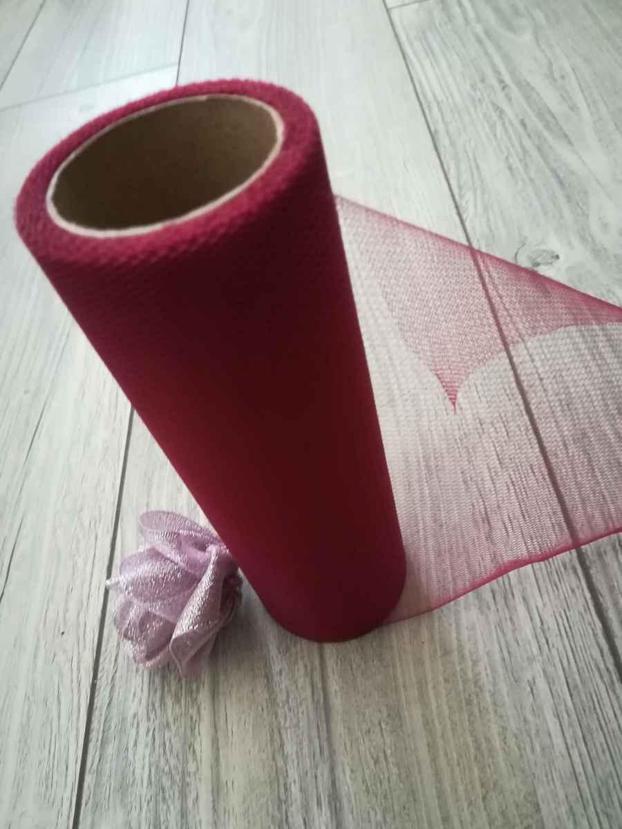 Tyl bordový 15cmx9m - predaj  - Obrázok č. 3