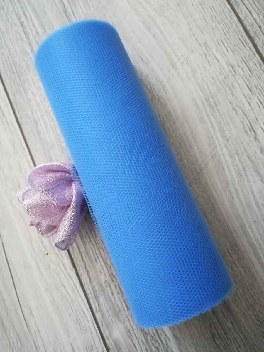 Tyl modrý l. 15cmx9m - predaj - Obrázok č. 1
