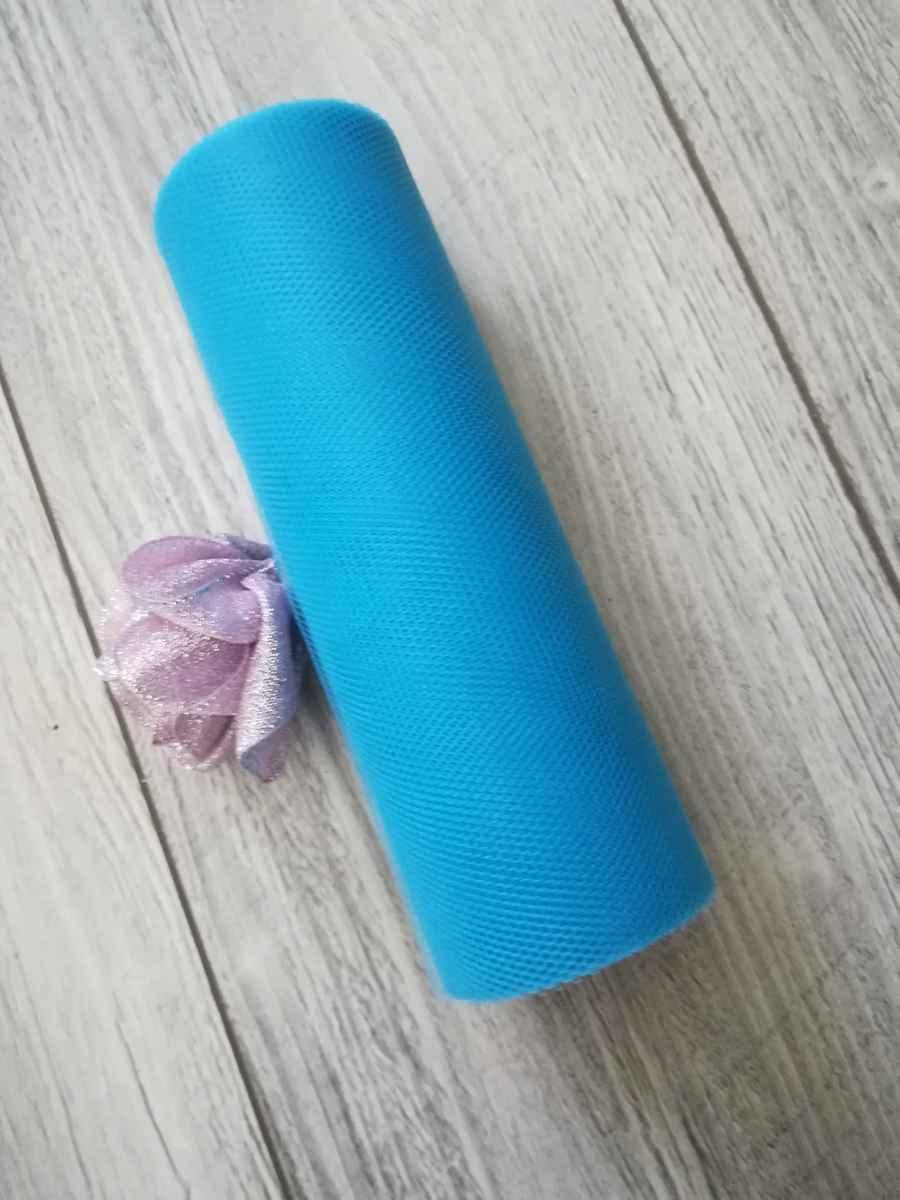 Tyl modrý ll. 15cmx9m - predaj - Obrázok č. 1