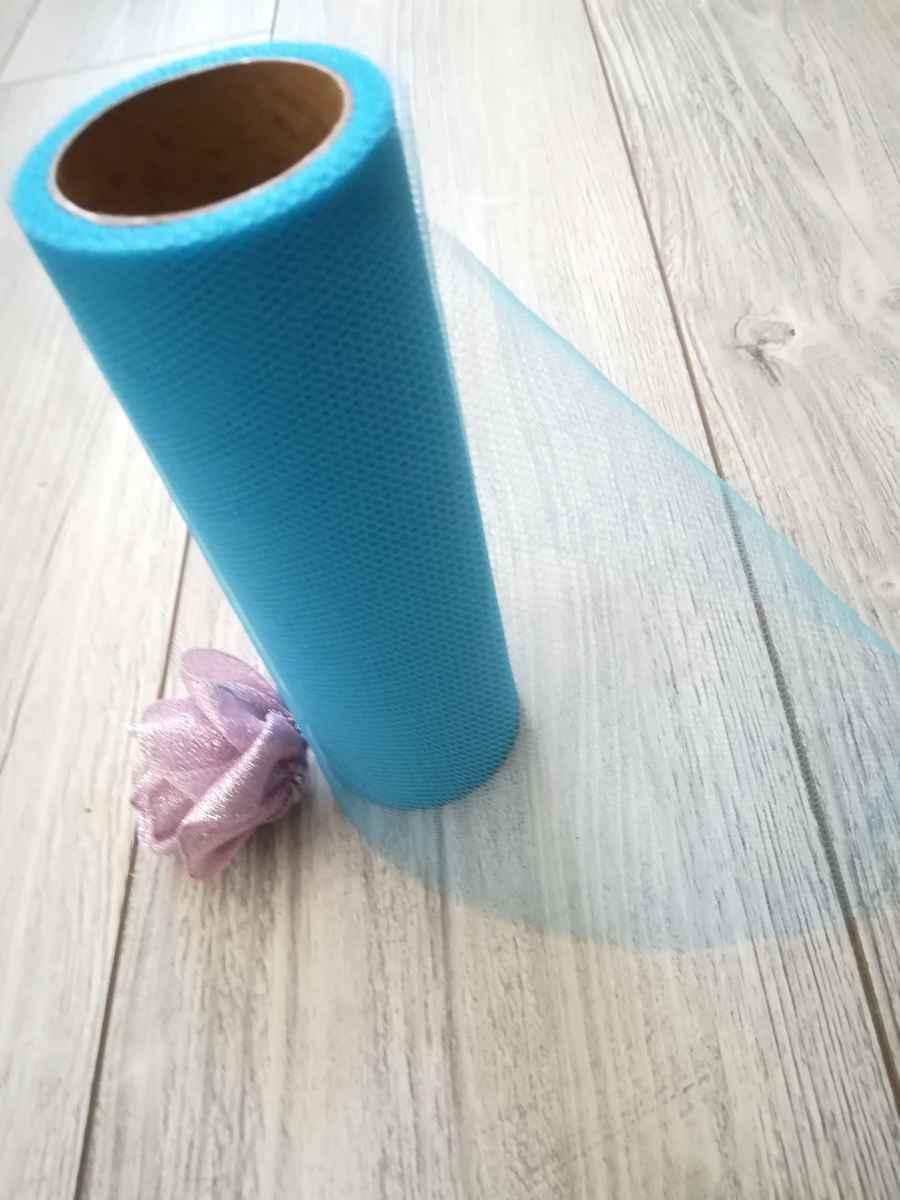 Tyl modrý ll. 15cmx9m - predaj - Obrázok č. 3