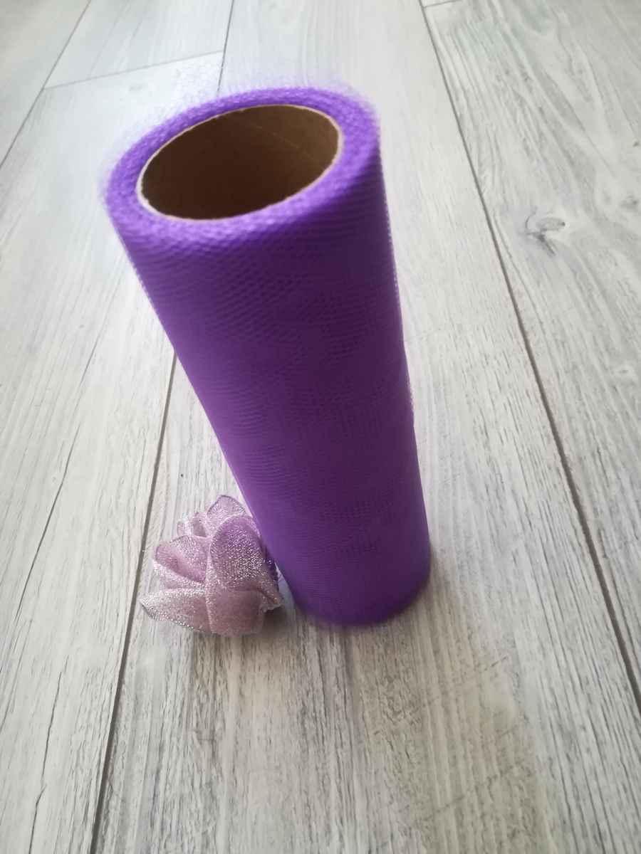 Tyl fialový l. 30cmx9m - predaj - Obrázok č. 2