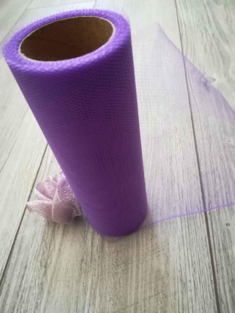 Tyl fialový l. 30cmx9m - predaj - Obrázok č. 3