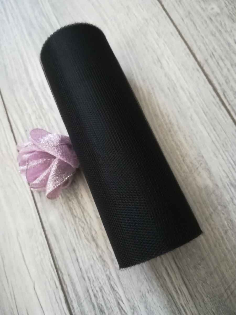 Tyl čierny 30cmx9m - predaj - Obrázok č. 1