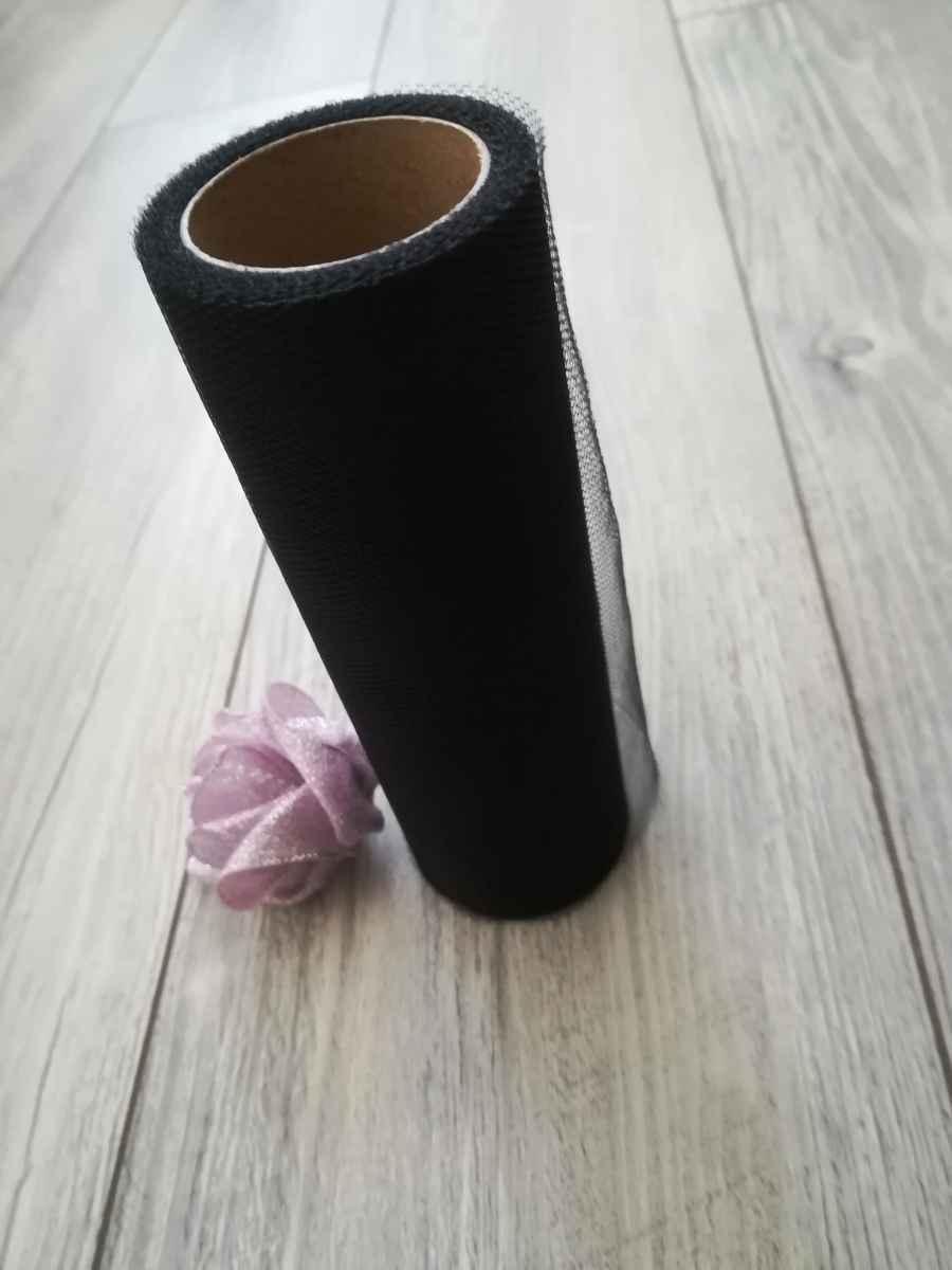 Tyl čierny 30cmx9m - predaj - Obrázok č. 2
