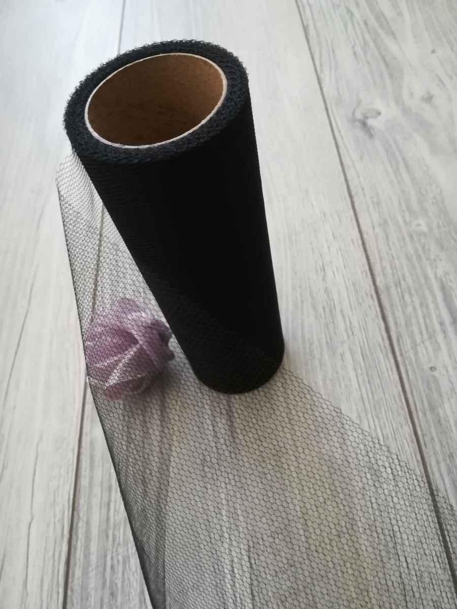 Tyl čierny 30cmx9m - predaj - Obrázok č. 4