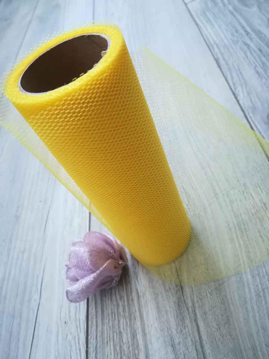 Tyl žltý 50cmx9m - predaj - Obrázok č. 3