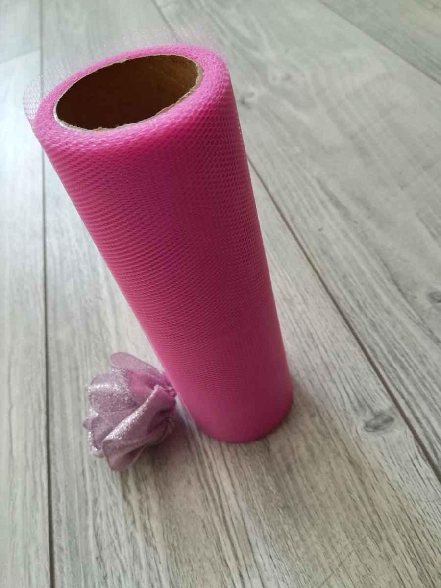 Tyl ružový ll. 15cmx9m - predaj - Obrázok č. 2