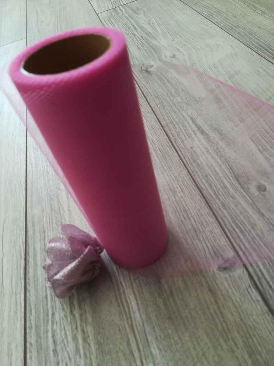 Tyl ružový ll. 15cmx9m - predaj - Obrázok č. 3