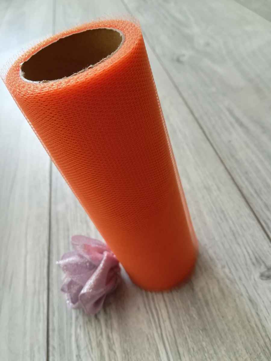 Tyl oranžový 50cmx9m - predaj - Obrázok č. 2