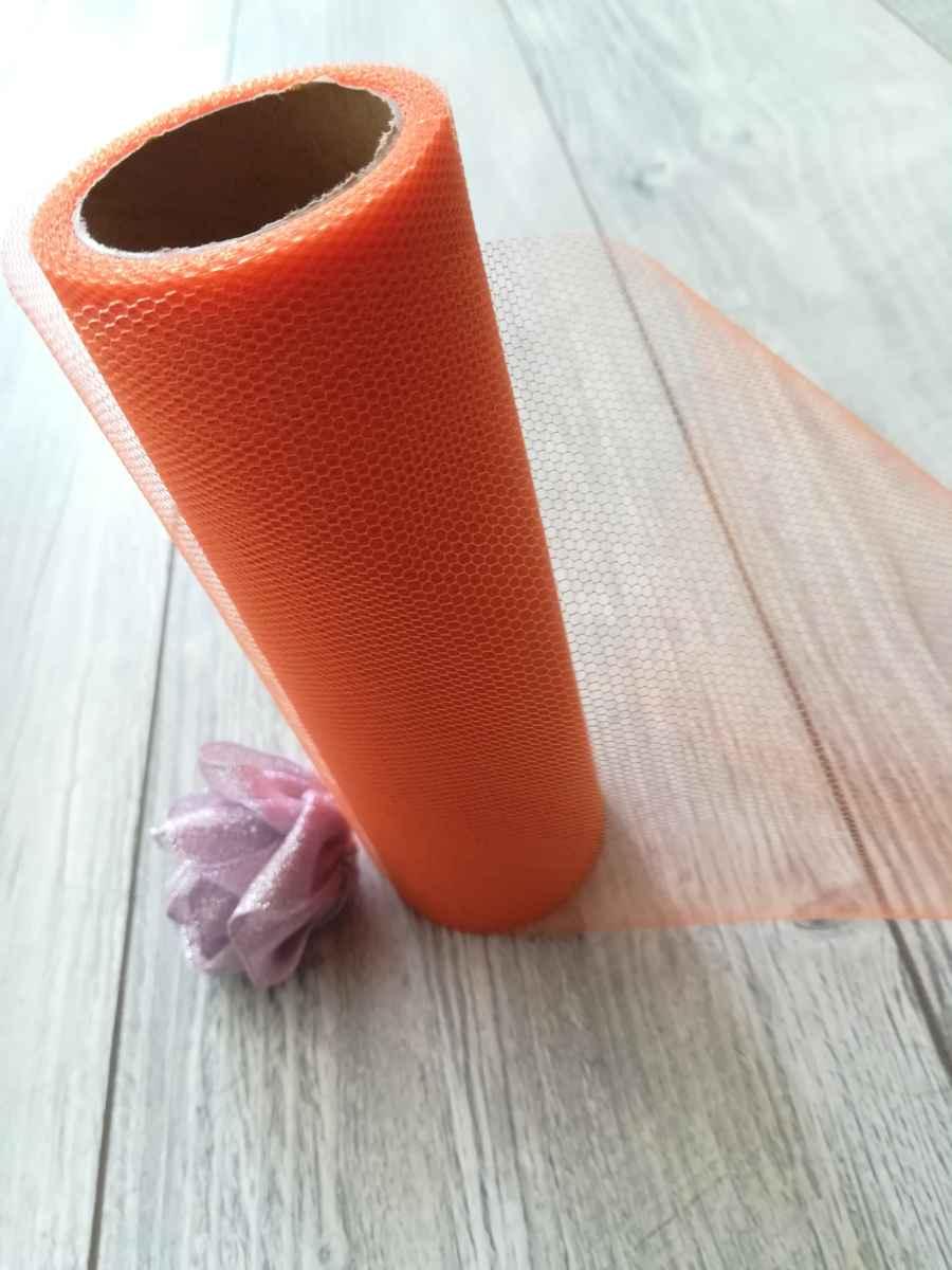 Tyl oranžový 50cmx9m - predaj - Obrázok č. 3