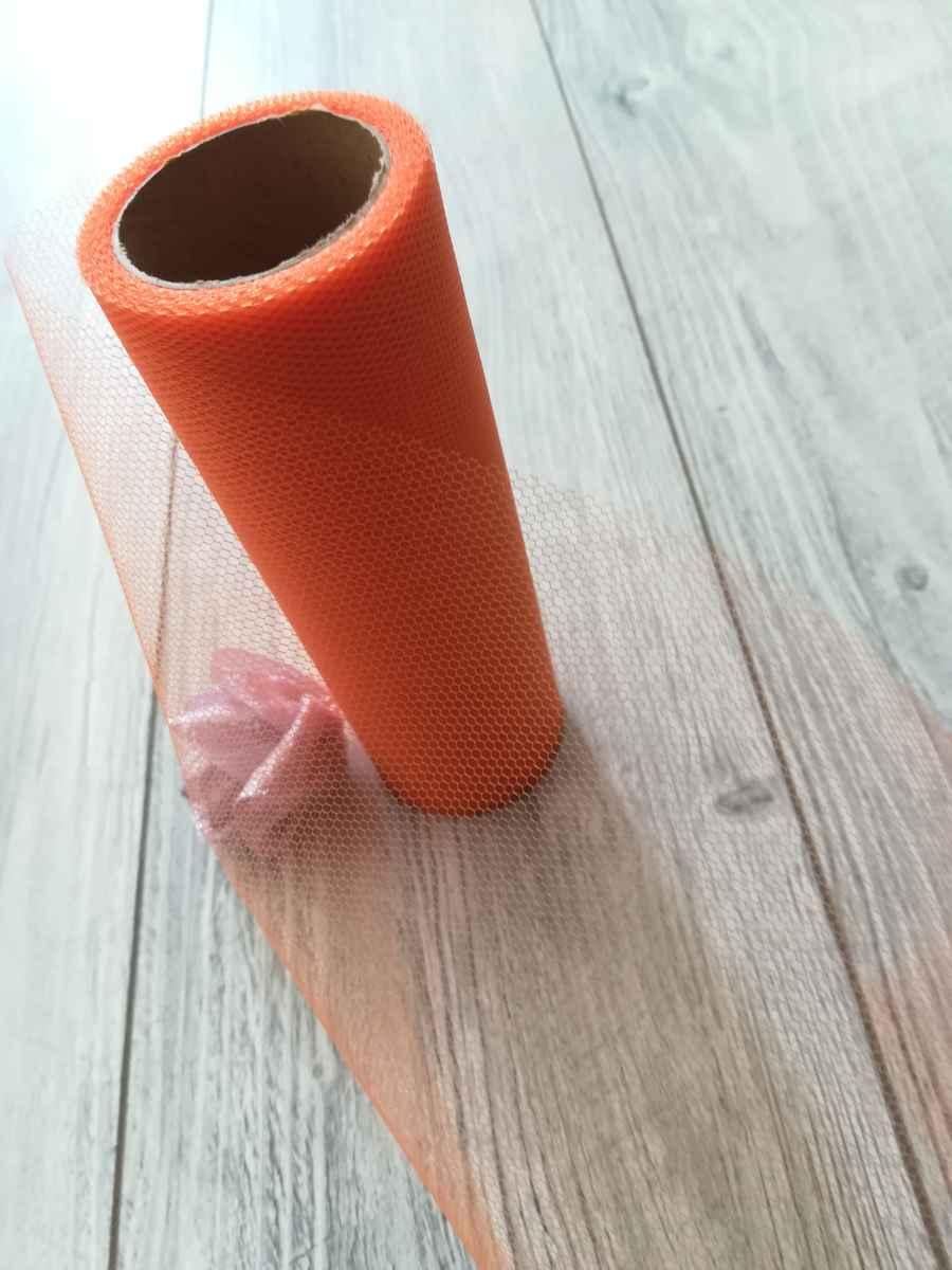 Tyl oranžový 50cmx9m - predaj - Obrázok č. 4