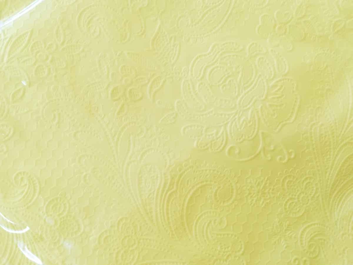 Reliéfne servítky s motívom čipky - svetložltá - Obrázok č. 2