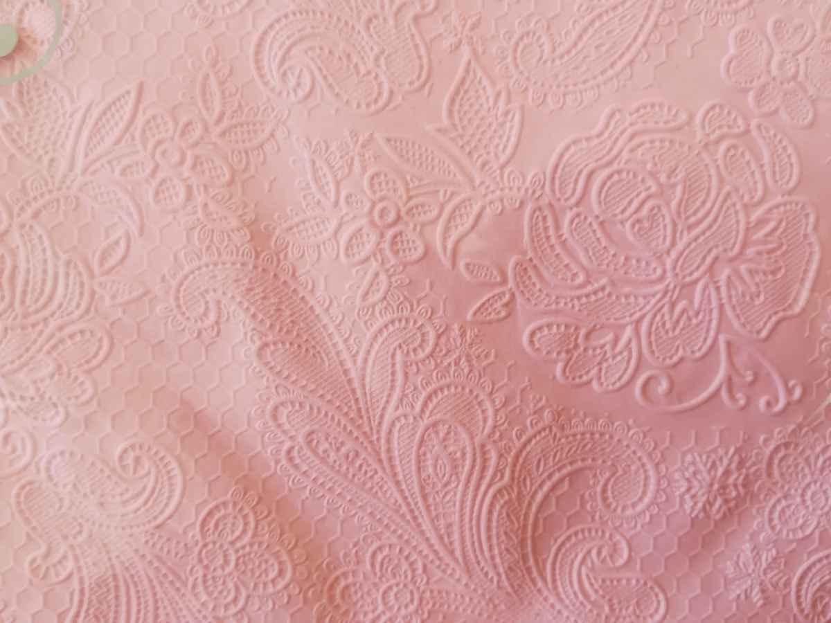 Reliéfne servítky s motívom čipky - ružová - Obrázok č. 2