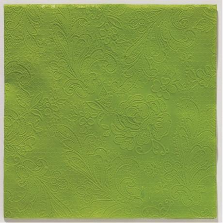 Reliéfne servítky s motívom čipky - trávovozelená - Obrázok č. 1