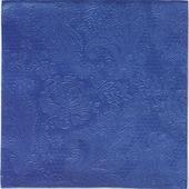 Reliéfne servítky s motívom čipky- kráľovská modrá,