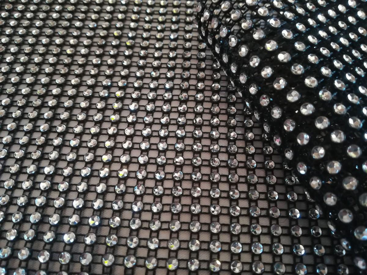 Diamantový pás čierno-strieborný 12cm - Obrázok č. 2