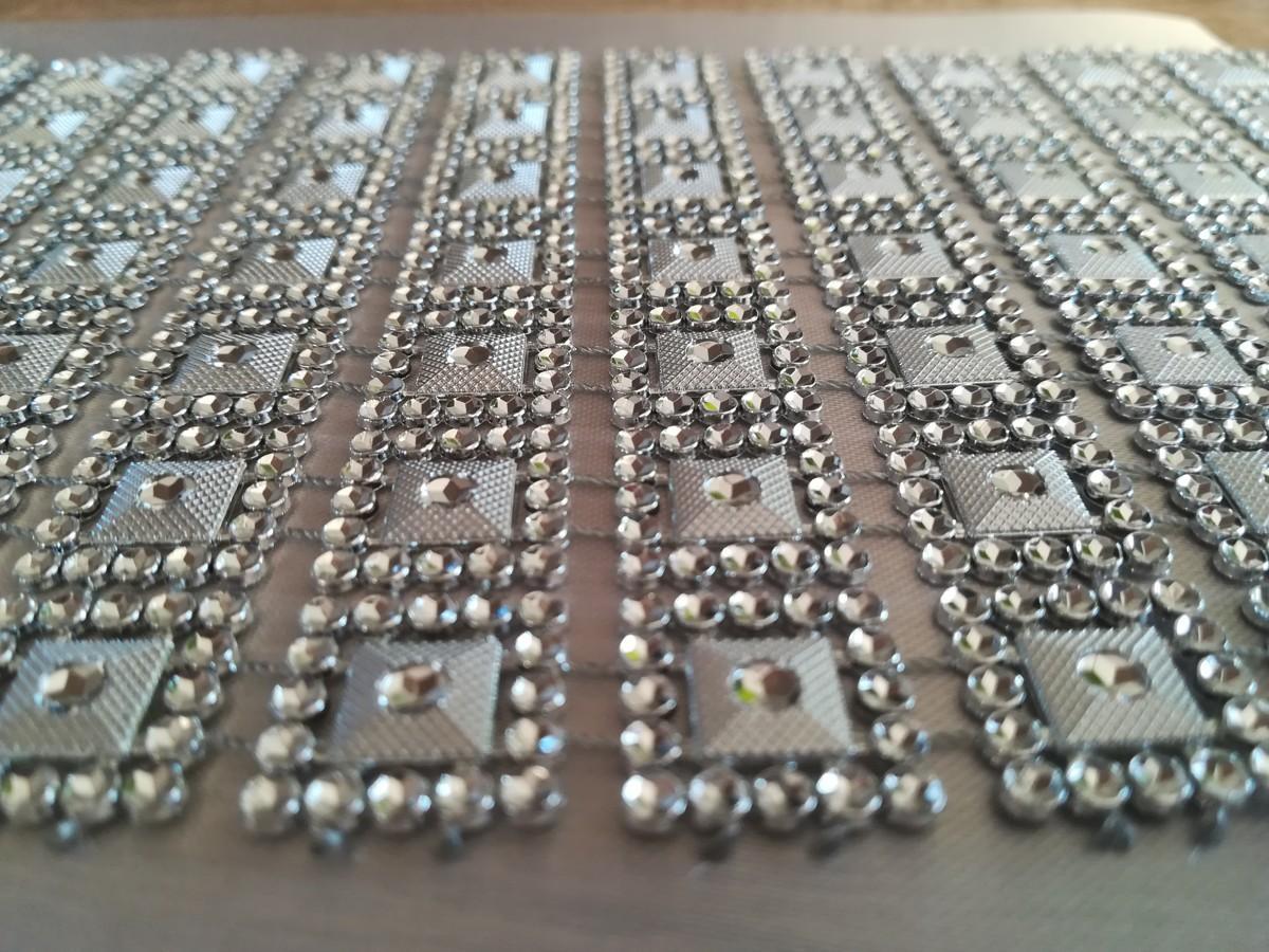 Diamantový pás I. strieborný 10,5cm - Obrázok č. 1