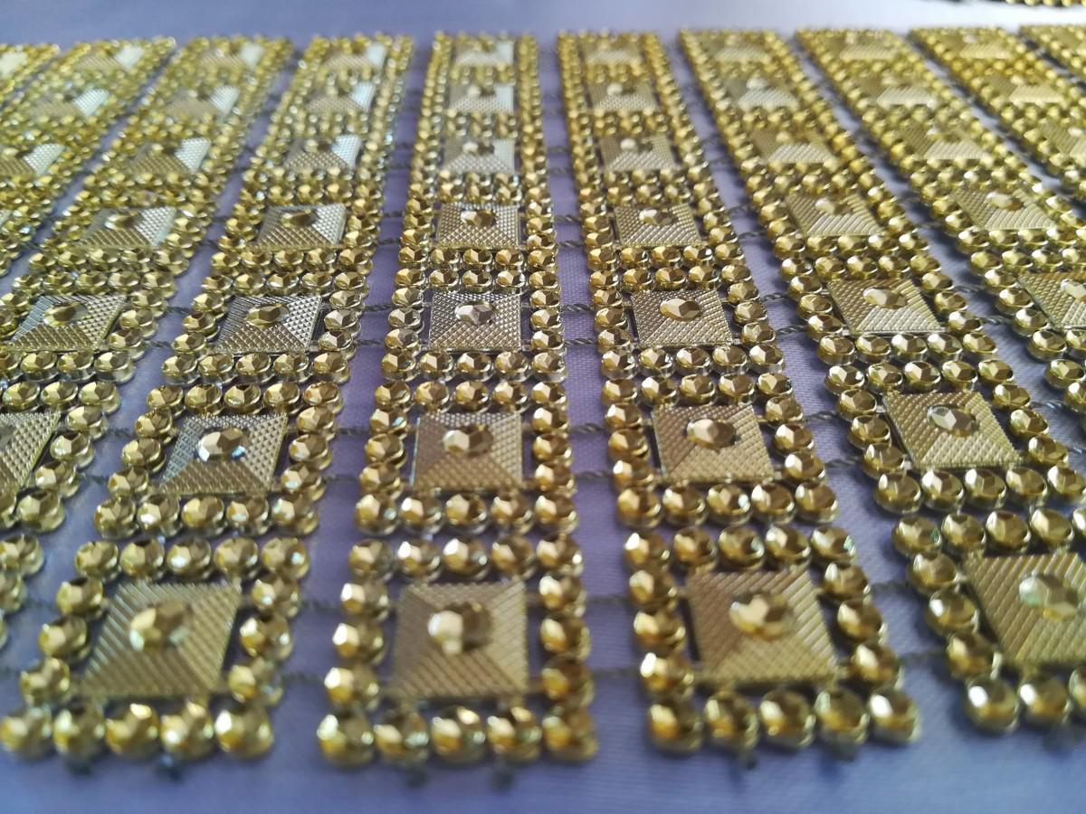 Diamantový pás I. zlatý 10,5cm - Obrázok č. 1