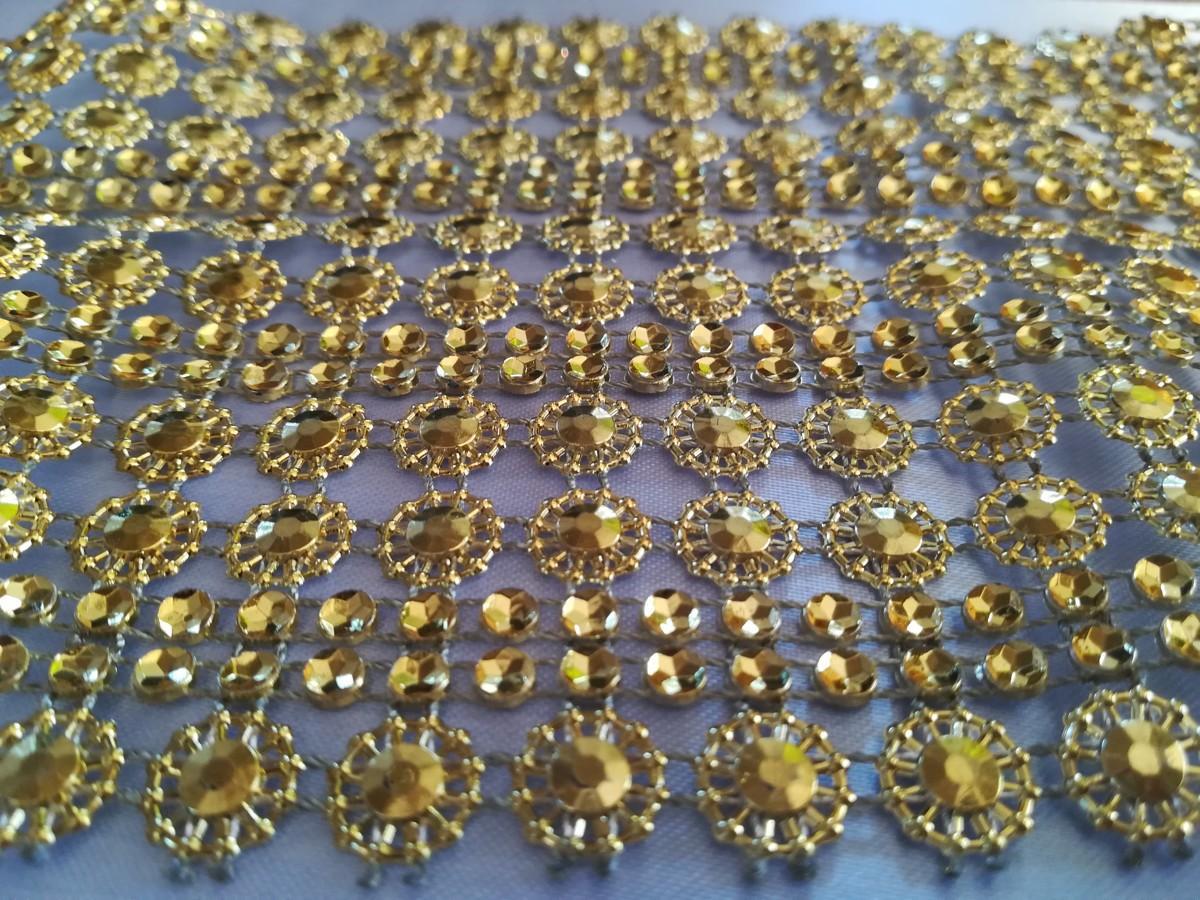 Diamantový pás II. zlatý 11cm - Obrázok č. 1