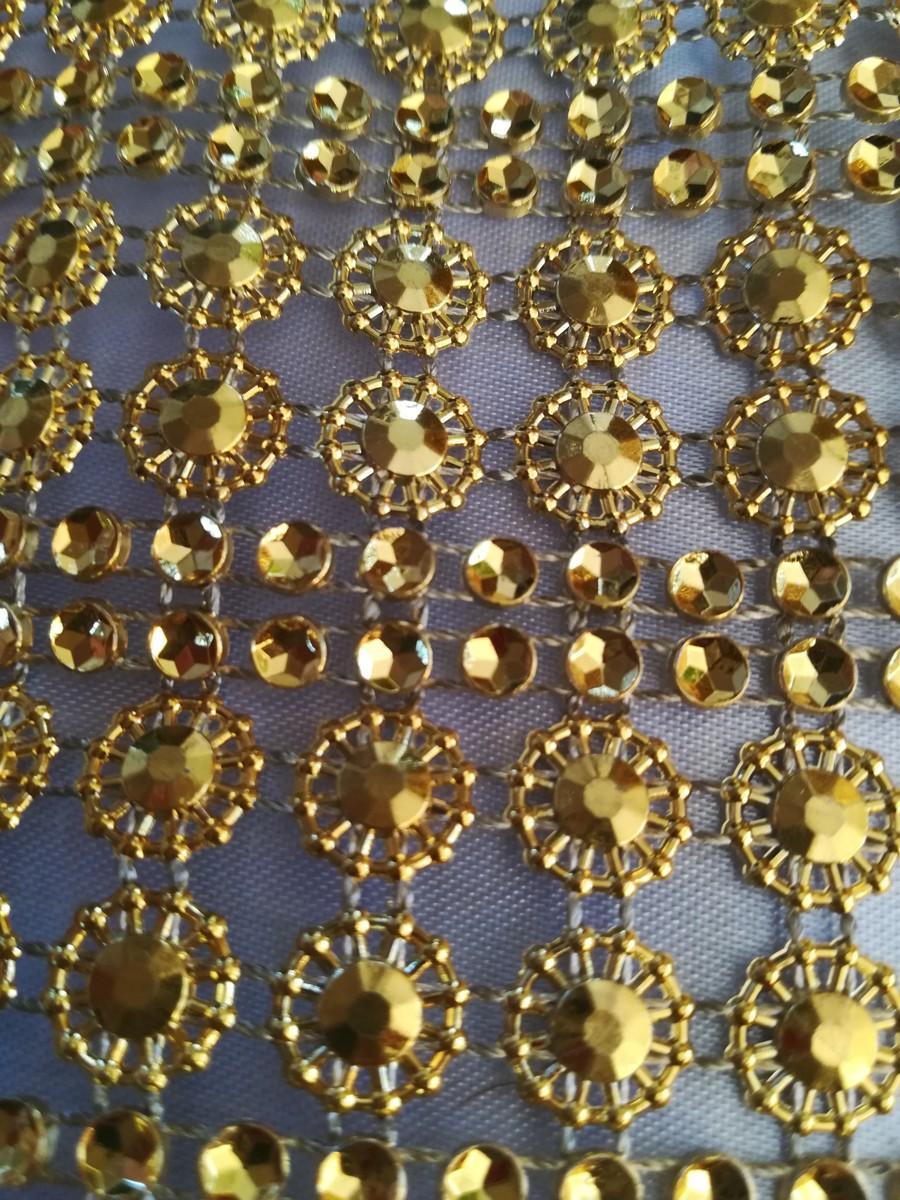 Diamantový pás II. zlatý 11cm - Obrázok č. 2