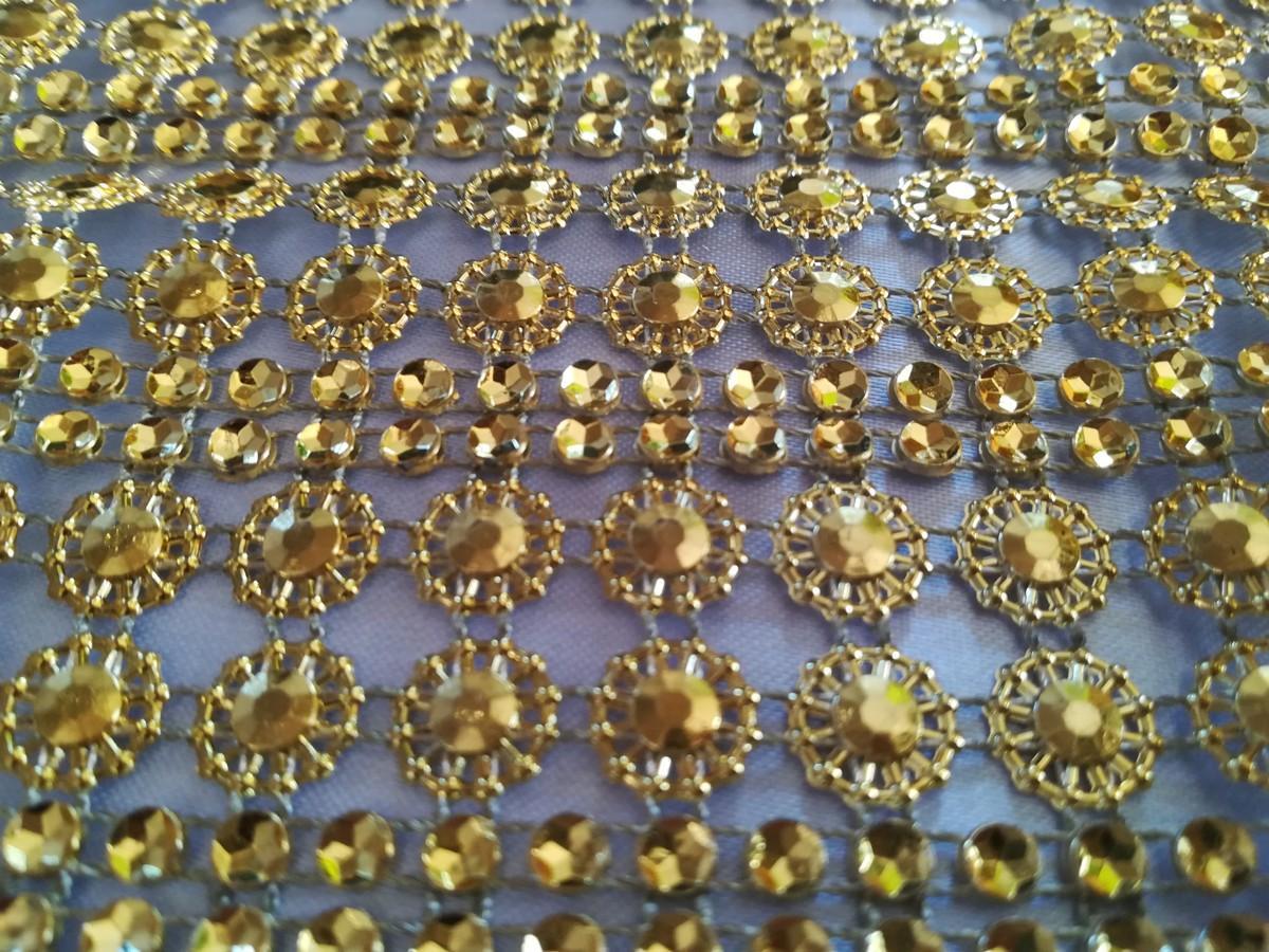 Diamantový pás II. zlatý 11cm - Obrázok č. 3