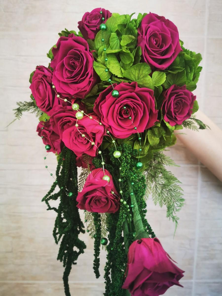 Svadobná kytica zo stabilizovaných kvetov I. - Obrázok č. 1