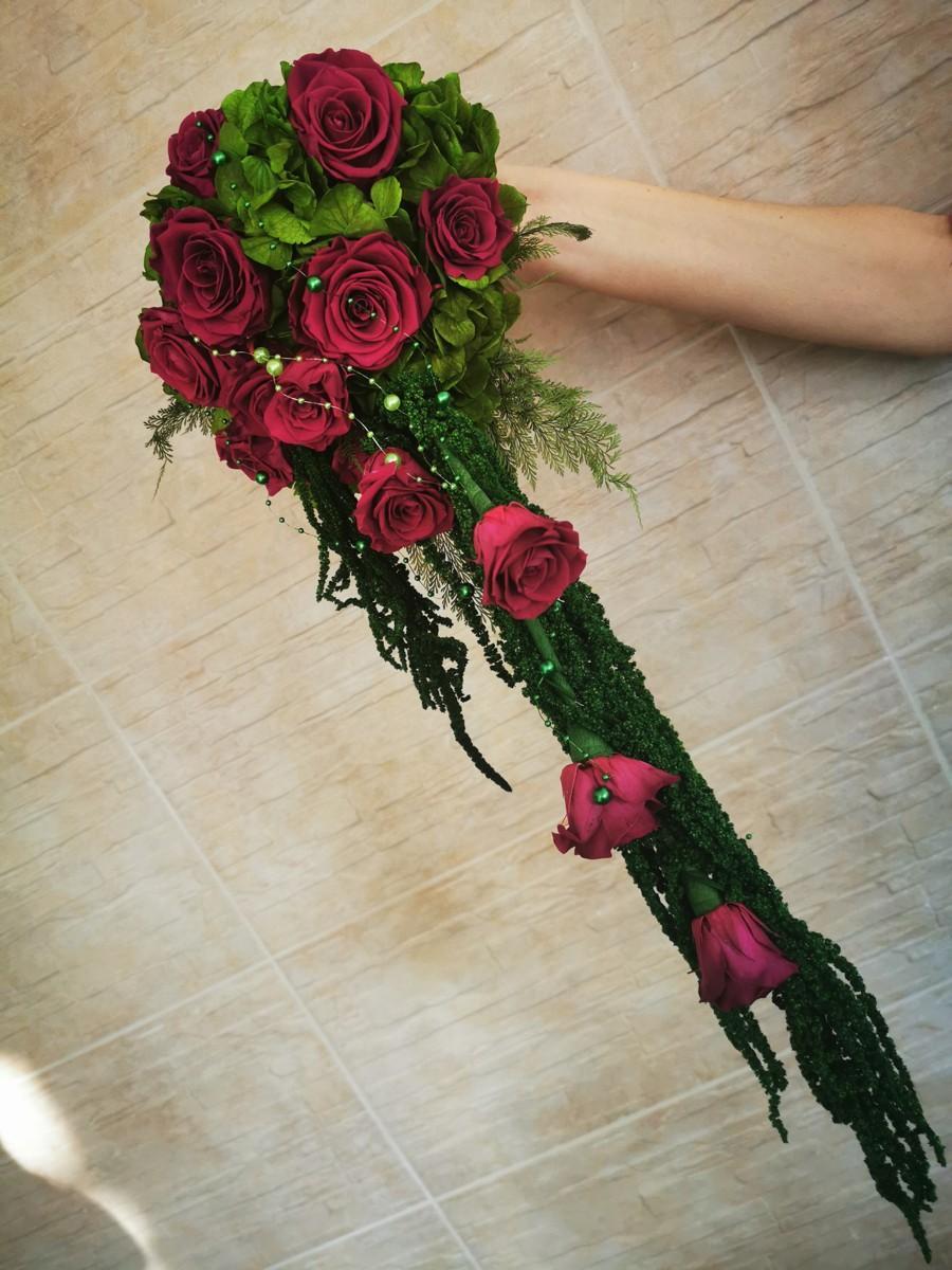 Svadobná kytica zo stabilizovaných kvetov I. - Obrázok č. 2