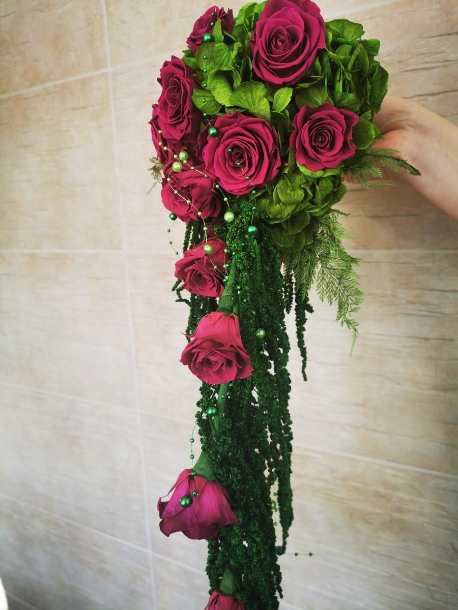 Svadobná kytica zo stabilizovaných kvetov I. - Obrázok č. 3
