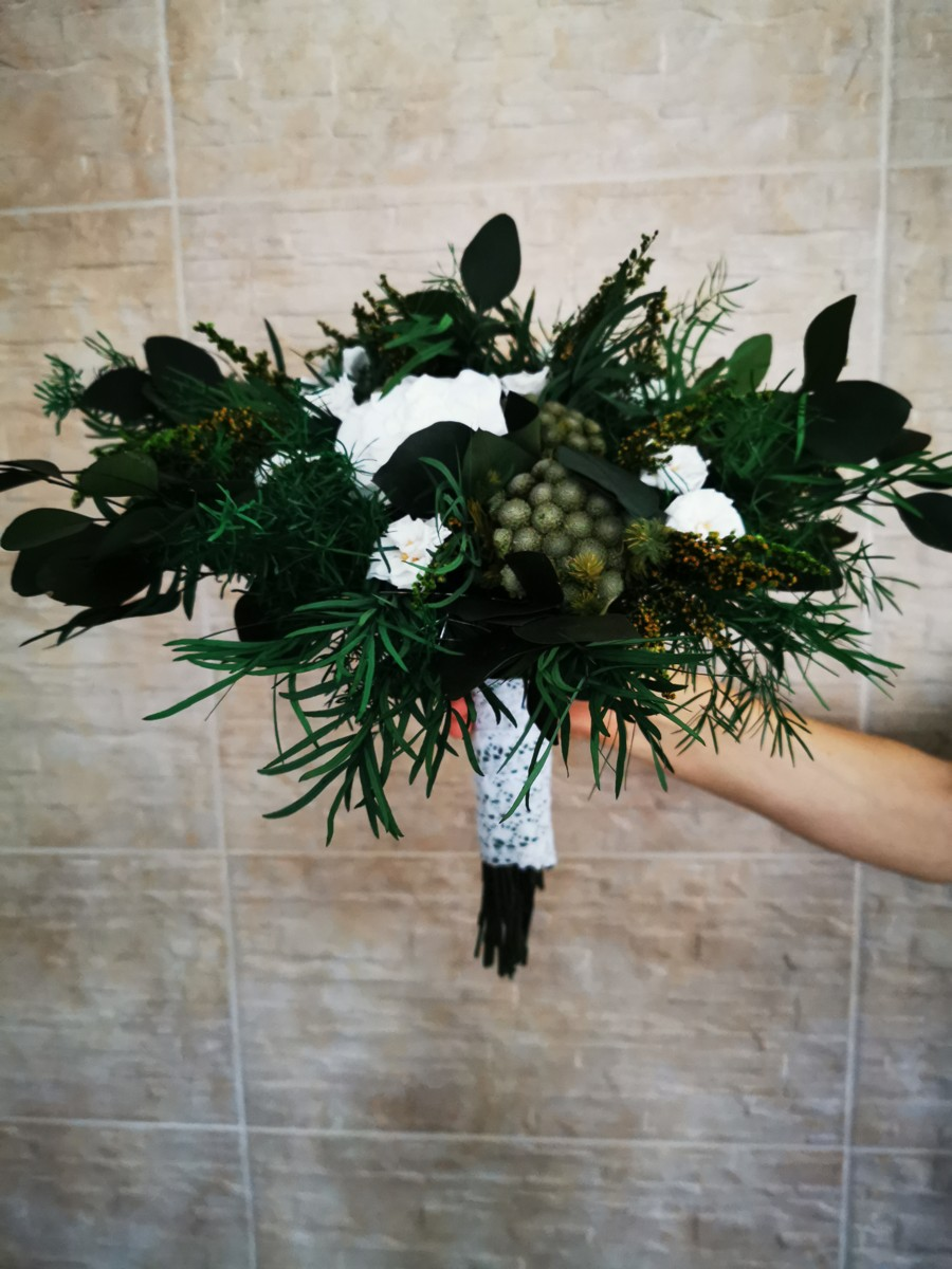 Svadobná kytica zo stabilizovaných kvetov II. - Obrázok č. 1