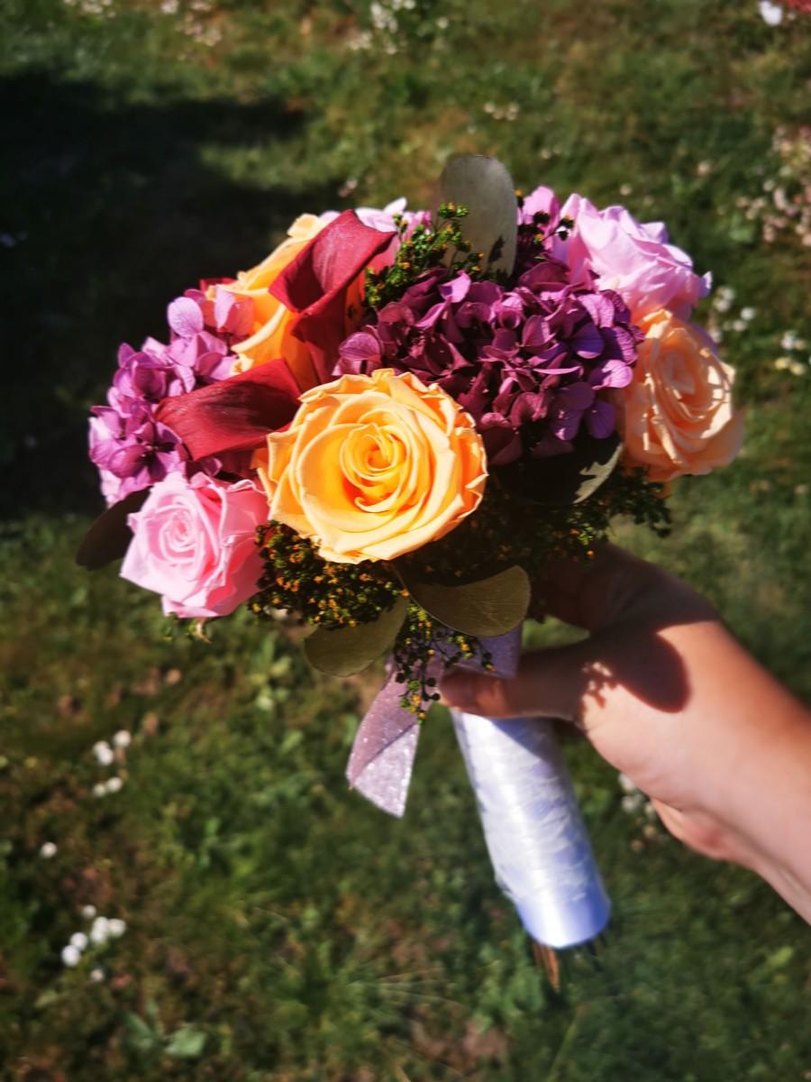 Svadobná kytica zo stabilizovaných kvetov III. - Obrázok č. 2