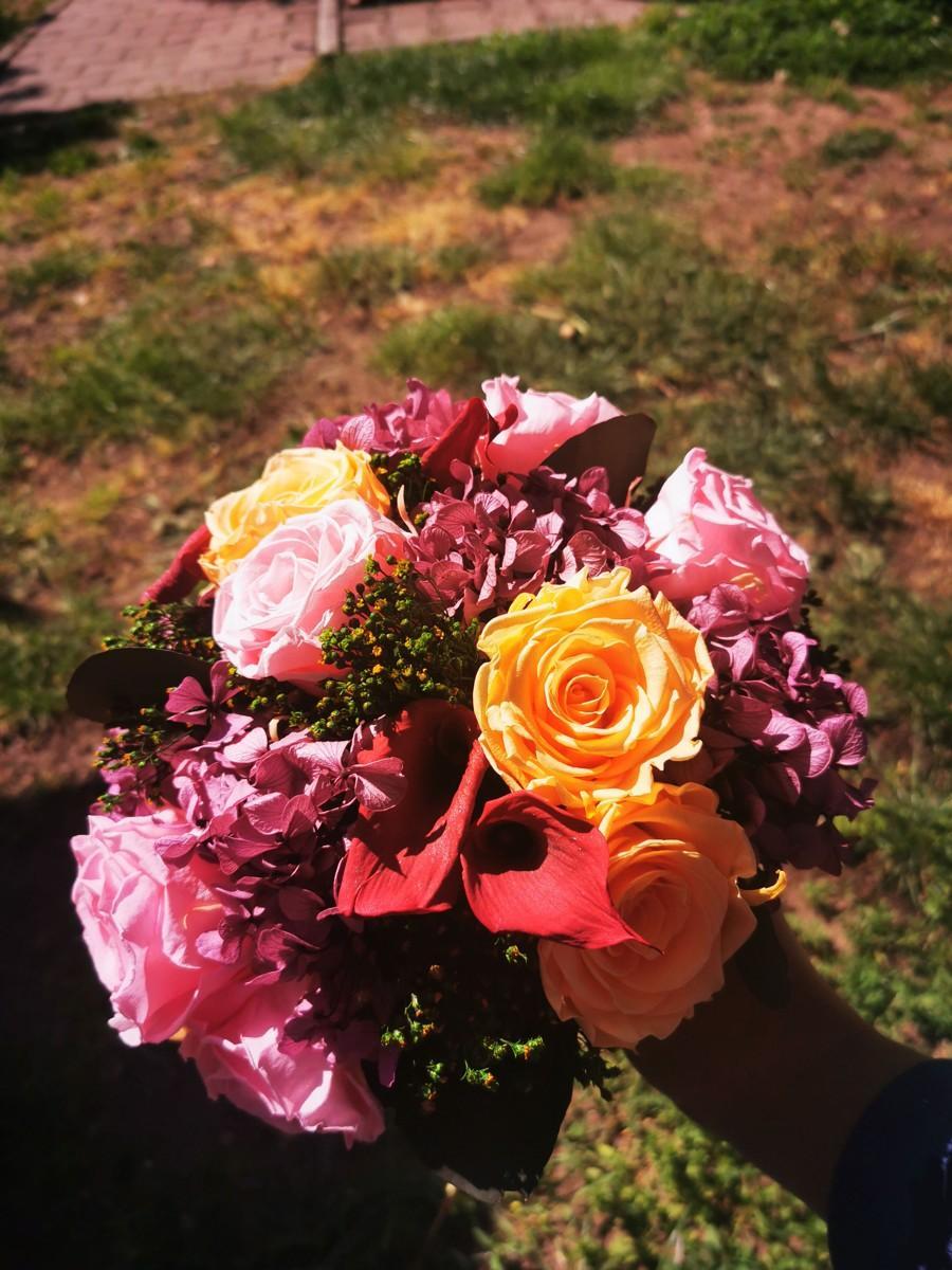 Svadobná kytica zo stabilizovaných kvetov III. - Obrázok č. 3