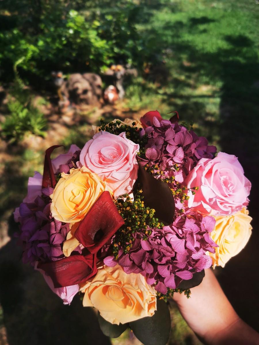 Svadobná kytica zo stabilizovaných kvetov III. - Obrázok č. 4