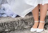 Svadobné topánky s perličkami, 38