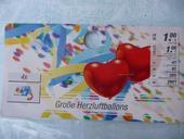 Balonky červené - srdce.,