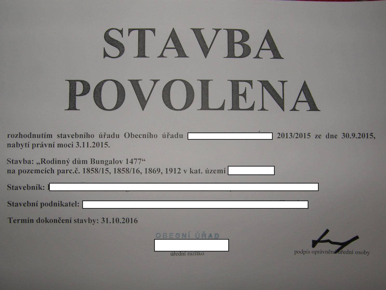 """Bungalov 1477 od Euroline - 3.11.2015 No a konečně je celá tahle akce legální. Možná bych mohl zajít za sousedem a """"spravit"""" mu ústa. :-)"""