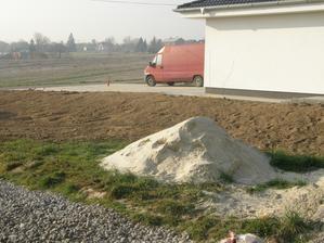 """4.11.2015 poté, co jsem se během půl roku asi 2x upomínal, dnes soused rozhrabal hromadu hlíny, kterou si bez dovolení """"odložil"""" ke mě na pozemek. To, že to rozhrabal na mém pozemku a vysoko a zadělal tak na problém se založením plotu asi nemá cenu."""