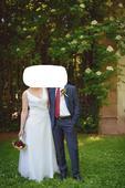 bílé svatební šaty vel. 40/42, 42