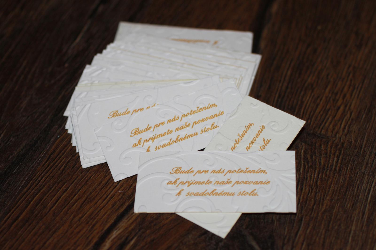 Naše prvé svadobné návrhy a prípravy - Pozvánky ku svadobnému stolu už máme tiež... ešte musíme tvrdo makať na oznámeniach... to ešte potrvá... :/