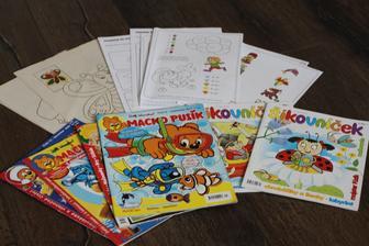 Logické hry, omaľovánky a časopisy... :)