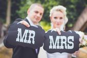 Rekvizity na focení Mr a Mrs,